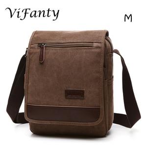 Image 3 - Different size Canvas Messenger Bag School Crossbody Bag Shoulder Bags