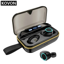 Q8 TWS True Wireless Earbuds Stereo Sound Bluetooth Earphones Pop Up Window Binaural Call with 1000mah Charging Case LED Display