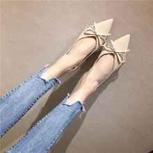 Liren 2019 Summer New Fashion Casual Women Vulcanize Shoes Bow Decoration Pointed Wrapped Toe Shallow