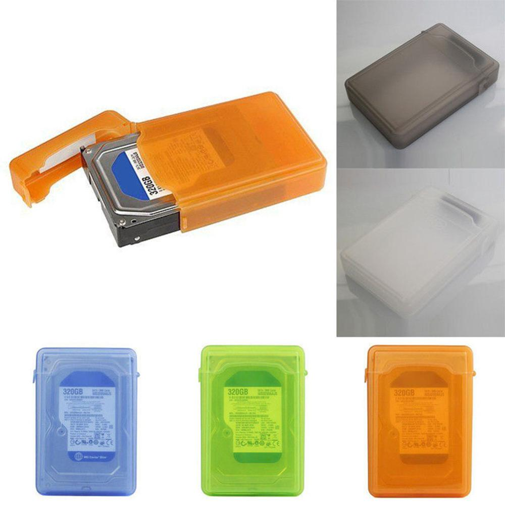 <font><b>3.5</b></font>'' Storage Case For <font><b>SATA</b></font> IDE HDD <font><b>Hard</b></font> Disk <font><b>Drive</b></font> Dustproof Protection Box Storage Case Orange Green SSD Hdd <font><b>Enclosure</b></font> Cases image