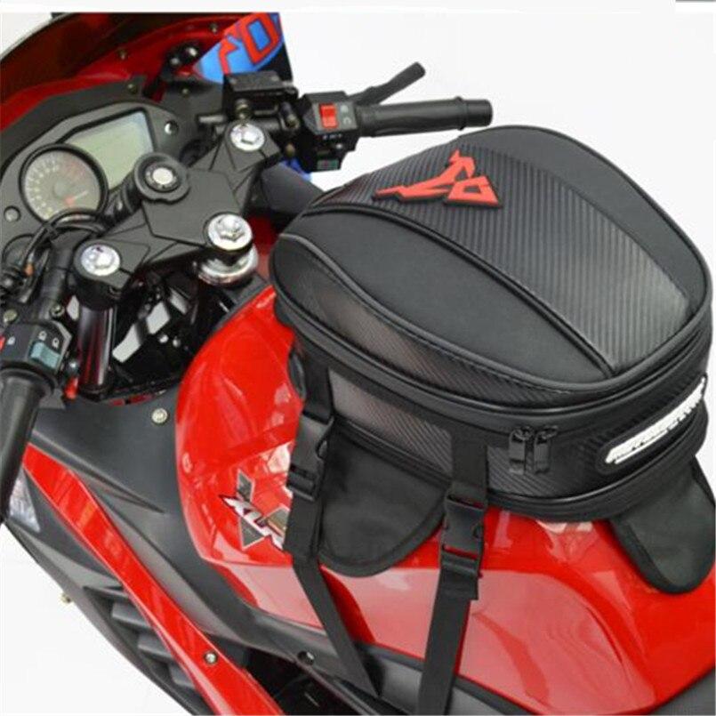 Водонепроницаемый Мотоцикл масляный бак сумка сильный магнит адсорбции Большая вместительная сумка мотоцикл спортивный хвост задние сумк...