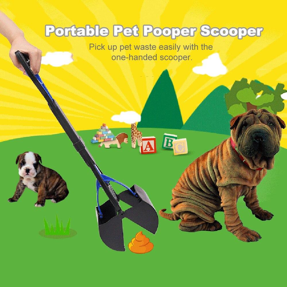 Pet Pooper Scooper Jaw Poop Scoop Handle Shovel Cleaning Animal Waste Dog Puppies Outdoor Cat Picker Cleaning Tools