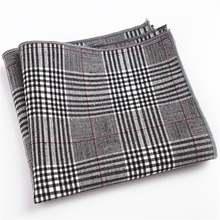 Платок 100% хлопок handky с клетчатым карманом квадратный носовой