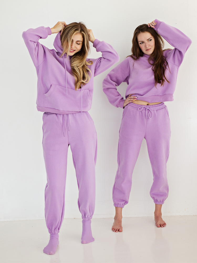 Hoodies Pants Jogger Womens Tracksuits Two-Piece-Set Fleece Warm Autumn Winter Toppies