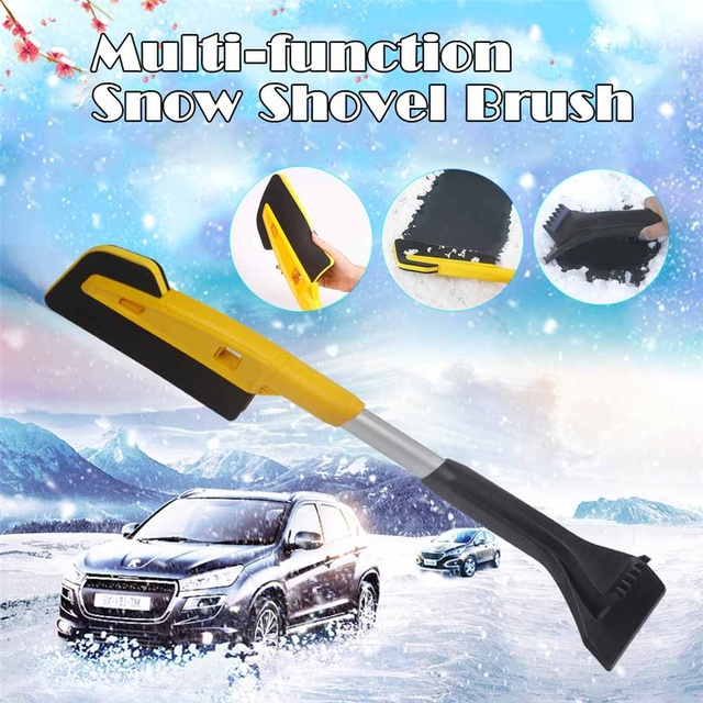 Car EVA Snow Shovel Multifunctional Snow Shovel Long Rod Deicing Ice Sweep Tool Snow Removal Brush