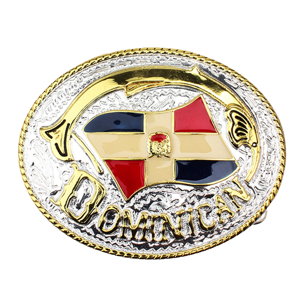 Phenovo Fashionable Classic Mens Oval Belt Buckle Gold Party Birthday Gift