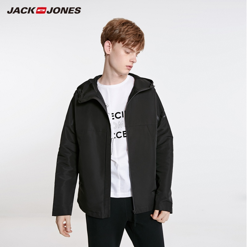 JackJones Men's  Fashion Casual Stand-up Collar Hooded Short Jacket Sports Menswear| 219121527