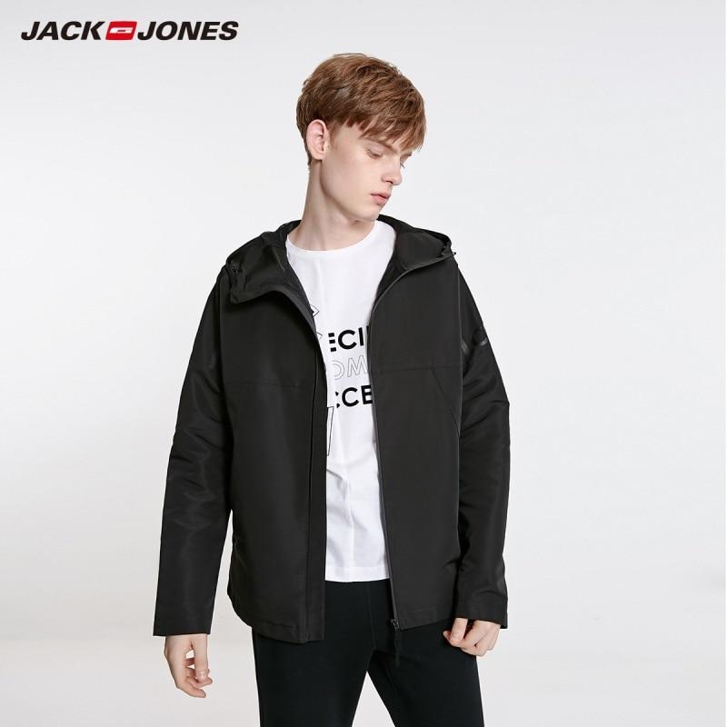 JackJones Men's Fashion Casual Stand-up Collar Hooded Short Jacket Sports Menswear| 219121527