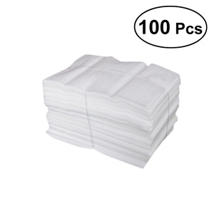 100 Pcs Foam Wraps EPE Coated Pearl Cotton Shockproof Shatterproof Foam Wrap Sheets for Packing Shipping -25X30CM