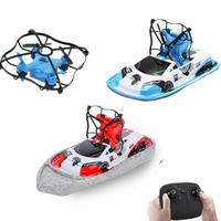 3 In 1 RC Drone Quadcopter Vehicle Hovercraft Boat Drone 360 degrees Flip Kids Toys Drone Helicopter Water Racing RC Boat