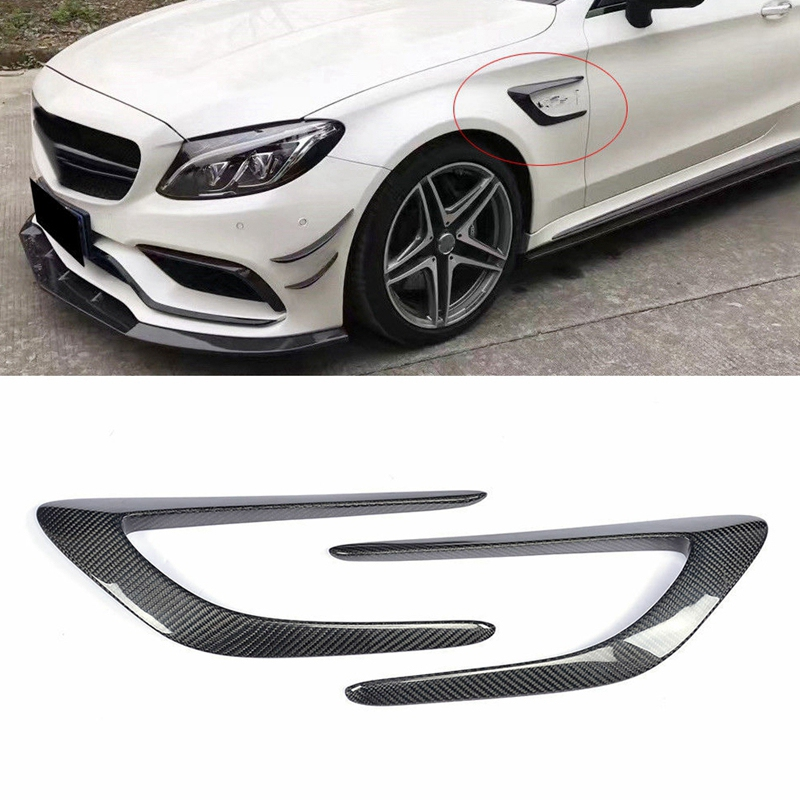 Carbon Fiber Front Side Air Intake Vent Fins for Mercedes Benz W205 C63 AMG 4Door 2015 18|Air Intakes| |  - title=