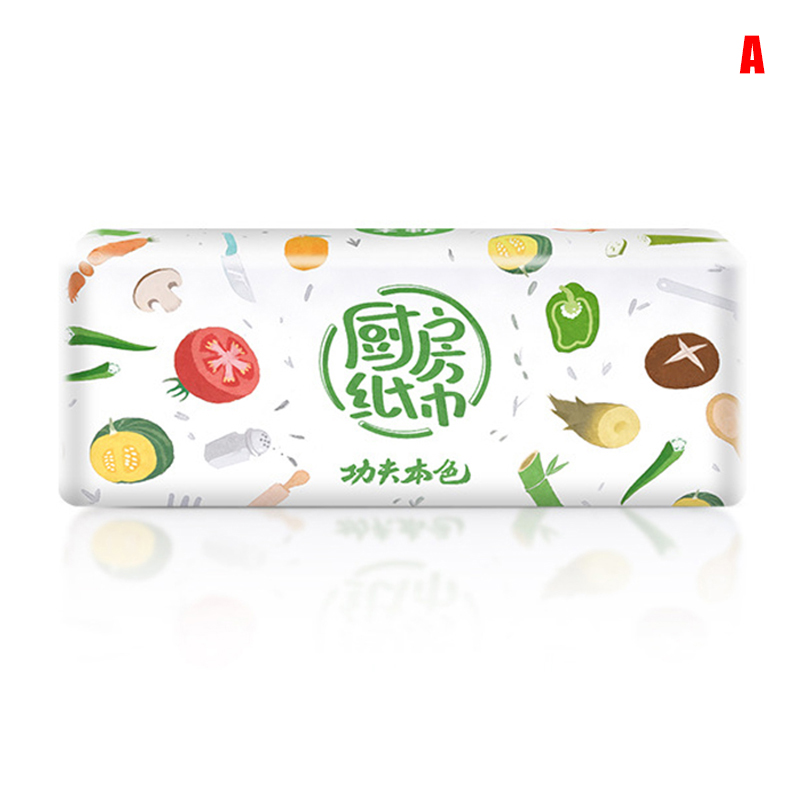 3 Packs Strong Oil-absorbing Kitchen Tissue Wood Pulp Water Absorption Paper Towel New K2