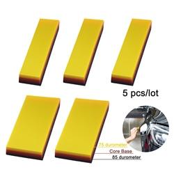EHDIS 5 sztuk winylu wałek gumowy folie okienne folie do pakowania tapety TPU miękkie skrobak szyby samochodowe wycieraczki do wody 2 w 1 zestaw narzędzi do czyszczenia| |   -