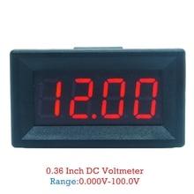 DC 0-99.99V (100V) 4 Digits 0.36inch Mini Digital Voltmeter 3 Wire Voltage Panel Meter