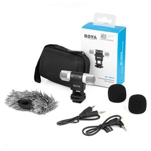 Image 5 - BOYA BY MM3 micrófono de condensador de grabación estéreo de doble cabezal para iPhone 8, Android, teléfono inteligente, cámara DSLR, vídeo de transmisión DV