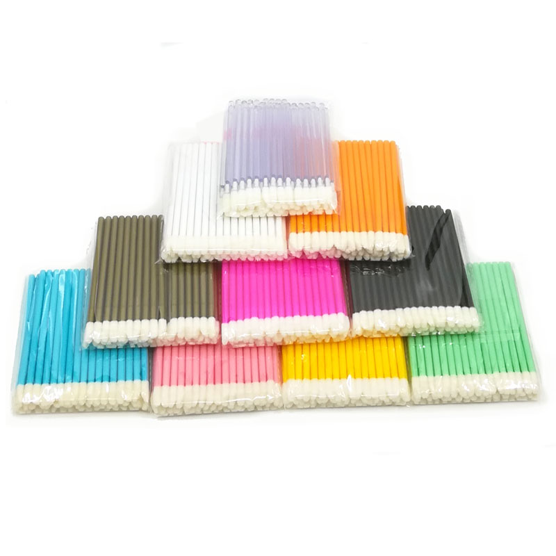 50pcs Disposable Eyelash Brush Lip Brush Black/pink/white Wands Eyelash Brush Applicators False Fake Lashes Extension Tools