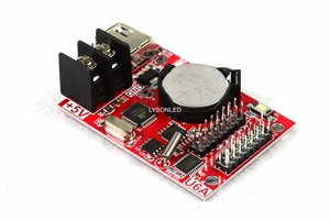 Image 4 - 10 Stks/partij Hd U6A Usb Disk Poorten Huidu Led Display Controlekaart Werken Met Enkele Kleur P10 Module Alleen