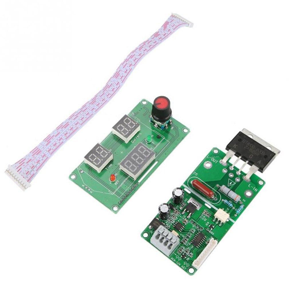 100A/40A Digital LCD Double Pulse Encoder Spot Welder Machine Time Control Green Board Module DIY Replacement