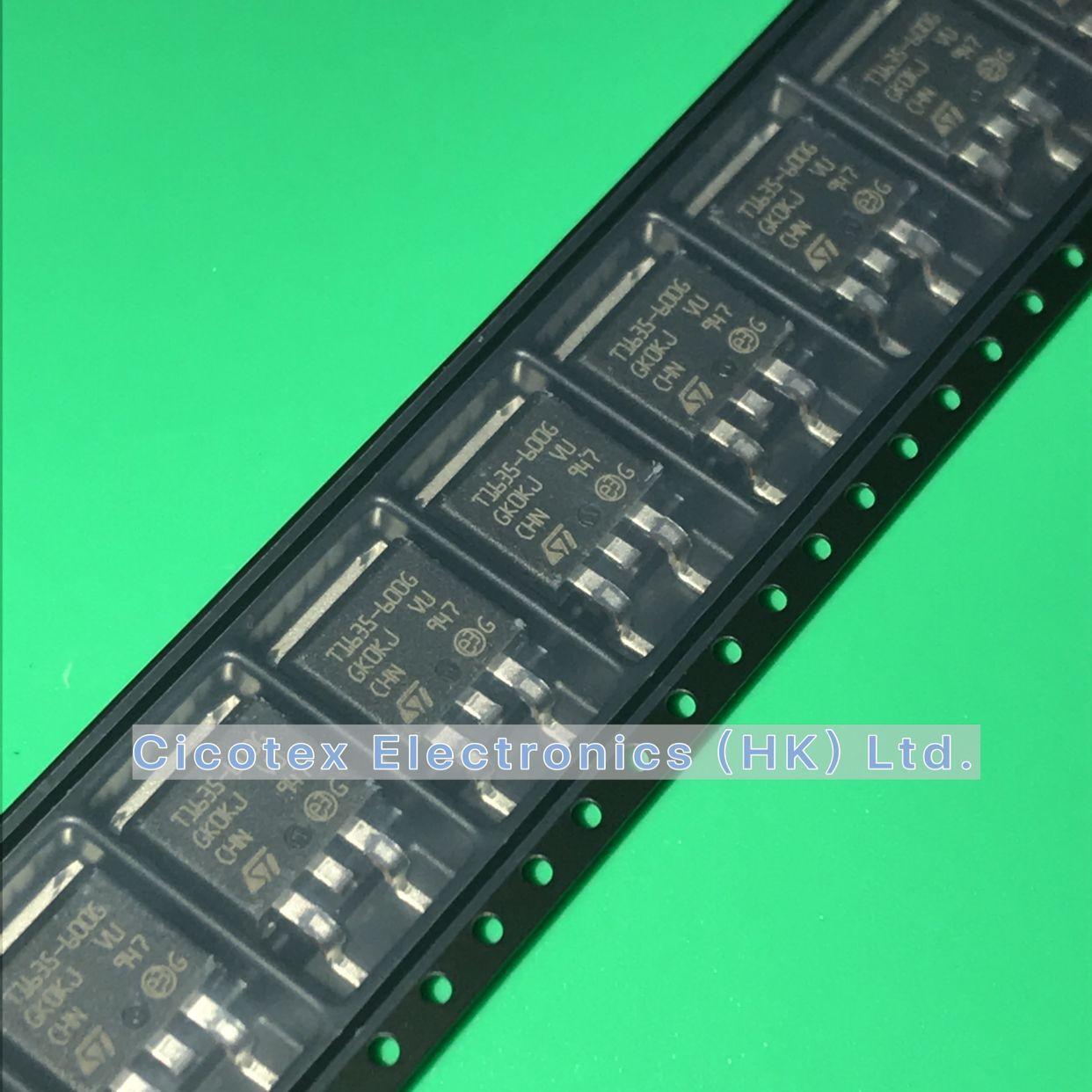 5pcs/lot T1635-600G-TR TO-252 TRIAC 16A 35MA 600V SOT252 TRIAC ALTERNISTOR 600V 16A D2PAK T1635600G T1635 600G T1635600GTR