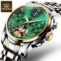 OLEVS Top Brand Men Watch orologio meccanico automatico abito di lusso moon light Gifts orologio da polso regali per uomo