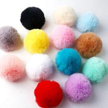 1 sztuka 8cm solidne futro królika Rex brelok-piłeczka kapelusz materiały ręcznie robione Diy sprzedaż hurtowa i detaliczna kolory wsparcie Mix i mecz