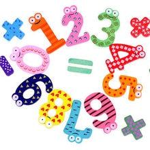 15 шт./компл. Монтессори детские номер холодильник магнитный рисунок Придерживайтесь Математика Деревянные развивающие детские игрушки для детей