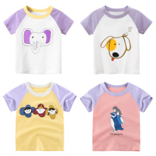 girls animal cartoon t shirts kids cat cotton boys short sleeve summer tops children clothes boys T-shirt for baby tee цена 2017