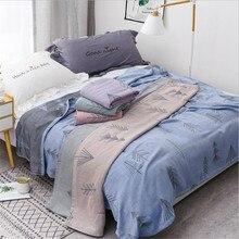 Edredón de algodón de verano de bambú para adultos, ropa de cama, colcha, 150x200 cm, 2 capas, muselina, manta de gasa para dormir para siesta por la tarde