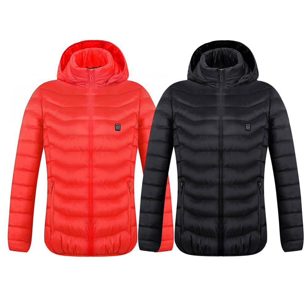 USB Infrared Heating Jacket Coat Winter Outdoor Sports Hiking Ski Electric Thermal Clothing Coat For Dropship
