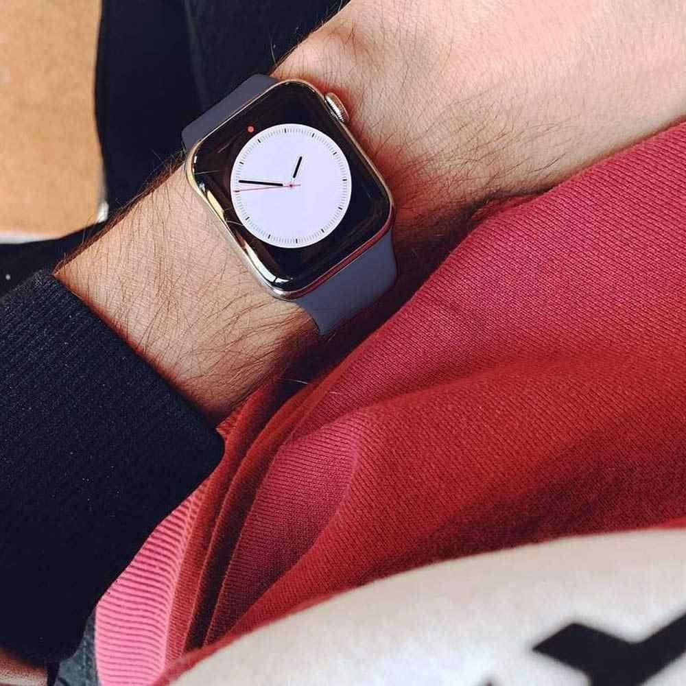 سيليكون حزام ل سوار ساعة يد آبل 44 مللي متر/40 مللي متر حزام ساعة ذكية آي وتش 38 مللي متر 42 مللي متر الرياضة سوار المطاط مربط الساعة ل apple watch 5 4 3 2 1