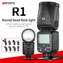 Triopo R1 丸頭でのカメラのフラッシュ 2.4 グラム × ワイヤレスttl hss 76Wsスピードライトフラッシュリチウムバッテリー (のみfalsh)