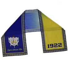Multifunctional Chiffon Material Scarf Sigma Gamma Rho Sorority Greek Letter Chiffon fade color Scarf(China)