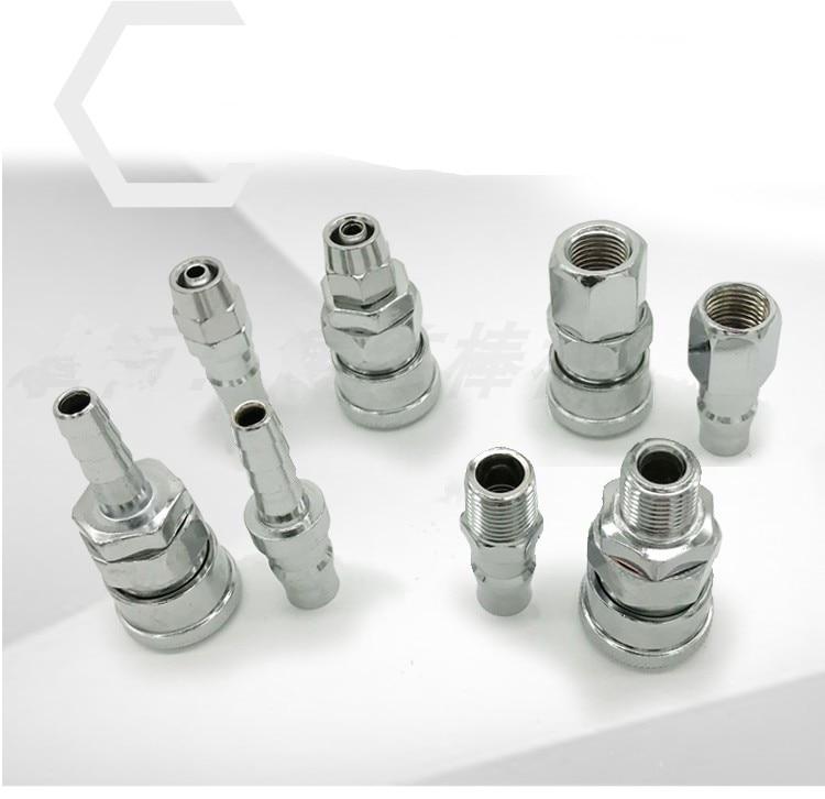 Pneumatic Fitting C Type Hose Quick Coupler Plug Socket Connector PP20 SP20