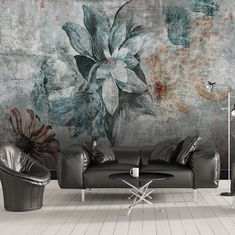 Custom 3D Photo Wallpaper Nordic Vintage Flower Bedroom Dining Room Kitchen Backdrop Mural Home Decor Wallpapers For Living Room