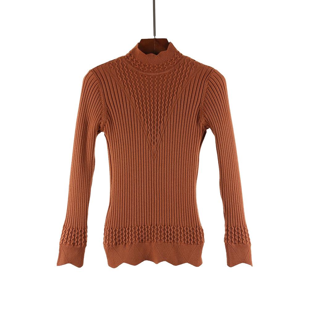 Толстый Теплый Женский пуловер размера плюс m xl модный вязаный
