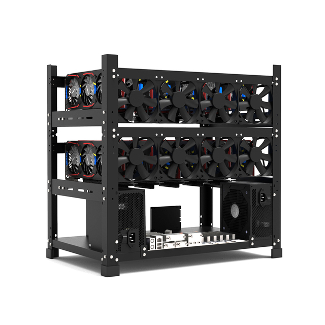 Open Mining Rig Frame for 12 GPU Mining Case Rack Motherboard Bracket ETH ETC ZEC BCH Ether Accessory Tool 3 Layers crypto miner 5
