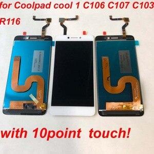 Image 4 - Orijinal Cool1 çift C106 R116 C103 lcd ekran dokunmatik ekranlı sayısallaştırıcı grup değiştirme Letv Le LeEco Coolpad serin 1c