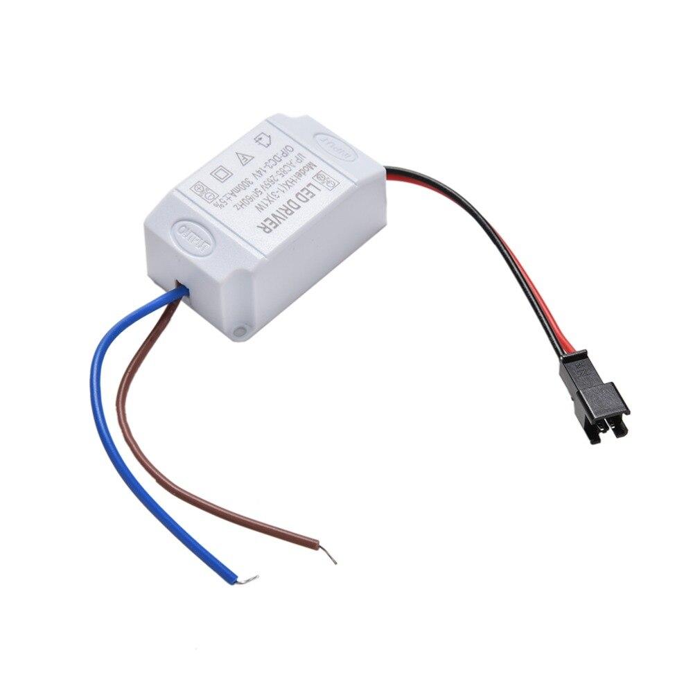 3X1W Simple Driver Adapter Electronic LED Strip Driver Transformer LED Power Supply AC 85V-265V To DC 2V-12V 300mA