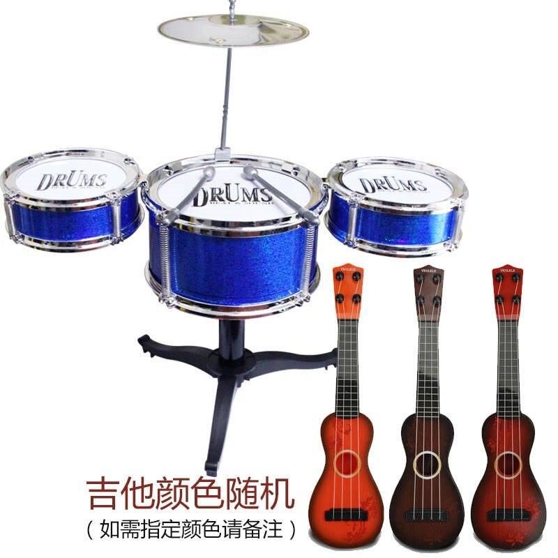 Джазовый барабанный Набор Мини пять модель в форме барабана игрушечный джазовый барабан ударный инструмент игрушечный барабан Музыкальны... - 2