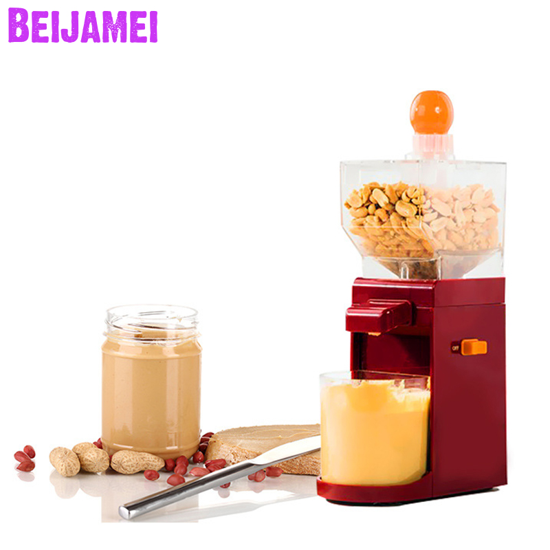 BEIJAMEI Household Peanut Butter Making Machine, Small Walnut Butter Maker Mixed Nut Peanut Butter Grinder Grinding Machine