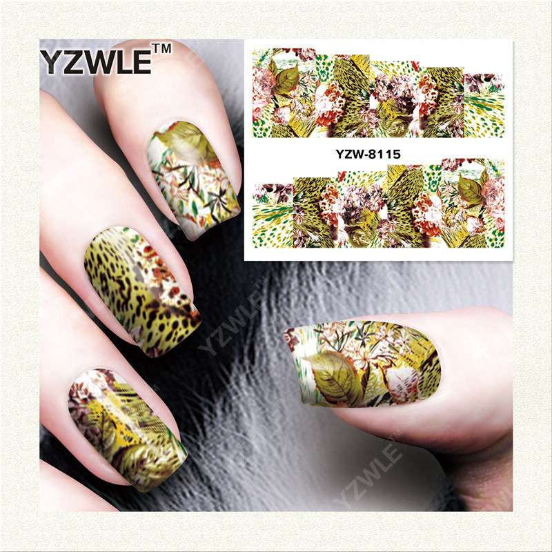Yzw South Korea Environmentally Friendly Nail Sticker All Flower Stickers Kids Pregnant Women Usable YZW8115