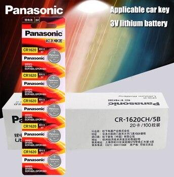 100 Uds. Panasonic producto Original cr1620 pilas de botón para reloj 3V batería de litio CR 1620 Calculadora de Control remoto