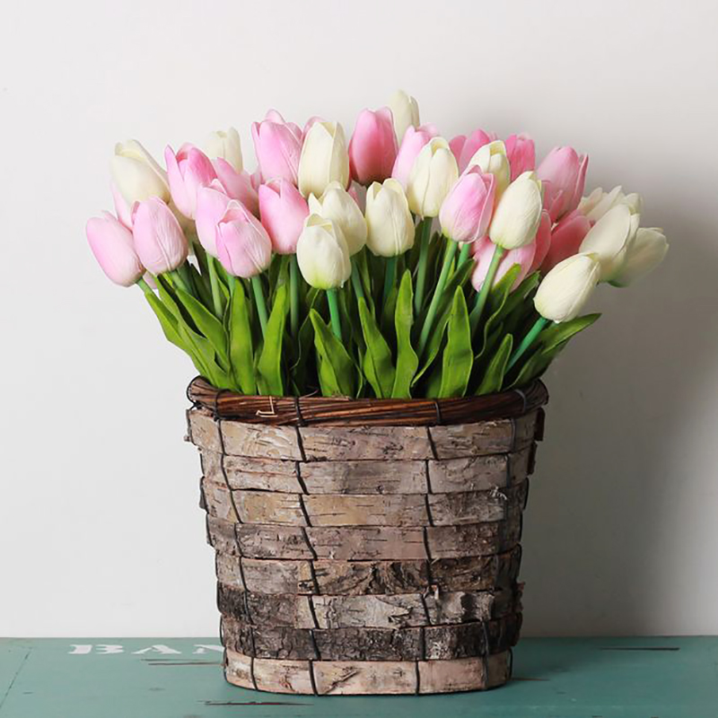 10/30pcs Tulip Artificial Flowers Real Touch Flowers Wedding Decor Simulation Bride Bouquets Pu Tulips for Home Party Vase Decor