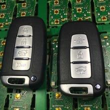 현대 솔라리스 소나타 IX35 I30 용 ID46 칩이 장착 된 자동차 스마트 원격 키 433Mhz 기아 K5 K2 포르테 스포티지 리오 K3 용 베라 크루즈 IX55