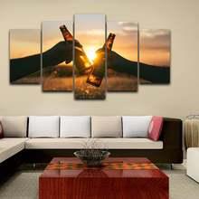 5 панелей модульная Картина на холсте пиво гостиная hd Печатный