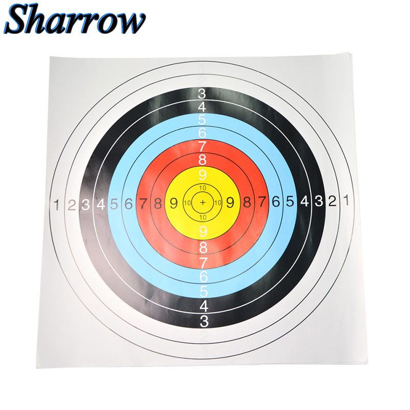 12pcs Archery Target Paper Face Kits For Outdoor Arrow Bow Training Durable