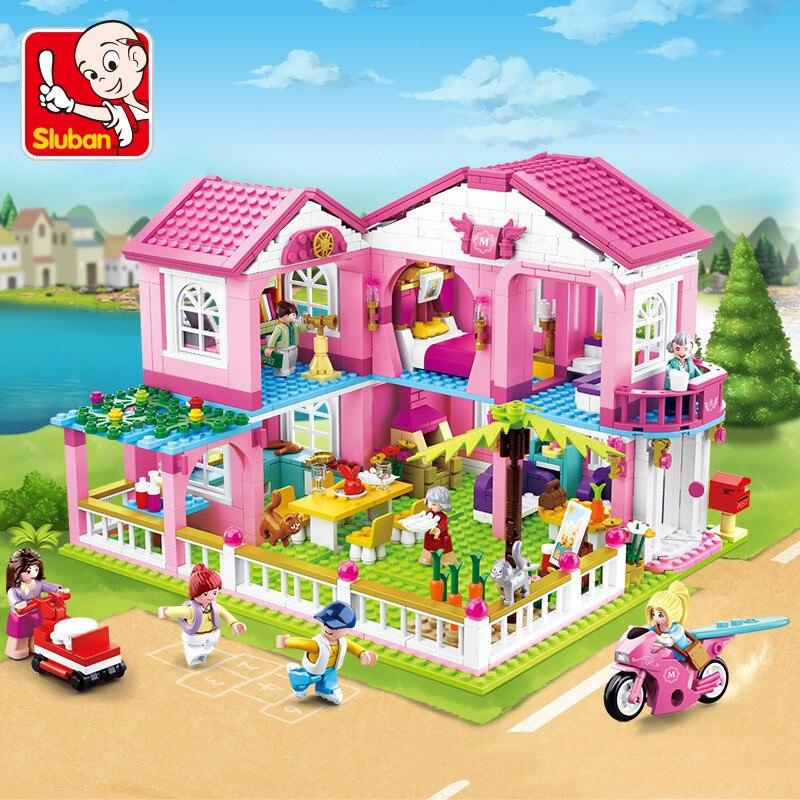 Grande jardim villa juguetes cidade casa blocos de construção define navio iate castelo lepiningls amigos lepinblocks tijolos brinquedos para meninas