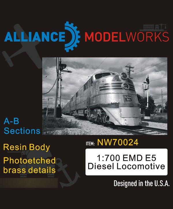 1/700 Scale EMD E5 Diesel Locomotive NW70024 Resin Model Kits Drop Shipping