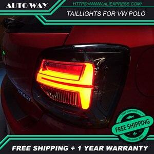 Image 4 - Kiểu Dáng Xe Đuôi Đèn Dành Cho VW Polo Đèn Hậu 2011 2017 Polo Họa Tiết Rằn Ri Nét Ta 016RAR Led Đuôi Đèn Polo Đèn Hậu Phía Sau thân Cây Đèn