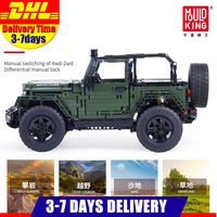 2020 IN Stock Mould King Technic Series RC Jeeps Wrangler Adventure Off road Vehicle Model Building Block Bricks 13124 Toy
